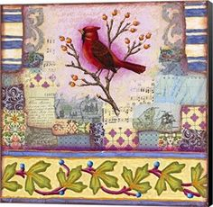 West Tisbury Cardinal by Rachel Paxton Canvas Art Wall Picture, Museum Wrapped with Black Sides, 12 x 12 inches  Consider decorating with purple accents if you love the look of purple home decor. It does not matter if you like violet, lavender, lilac, amethyst or more of a muave purple. Rest assured you will find your perfectly purple paradise.   I love the look of purple modern wall art, purple accent pillows and trendy purple decorative accents to spread all over my home.  This works well