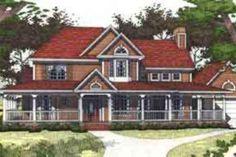 Farmhouse Style House Plan - 3 Beds 3 Baths 2175 Sq/Ft Plan #120-129 Exterior - Front Elevation - Houseplans.com