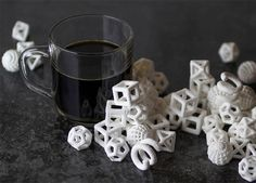 The Sugar Lab uses 3D printing technology to create geometric confectioneries, such as sugar cubes, sugar skulls, and decorative cake toppers.