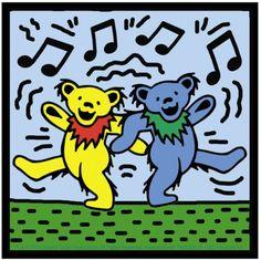Grateful Dead Dancing Bears bears) - Bumper Sticker / Decal X Grateful Dead Quotes, Grateful Dead Dancing Bears, Texture Painting On Canvas, Painting Pots, Canvas Paintings, Dead Pictures, Dead Pics, Cute Canvas, Forever Grateful