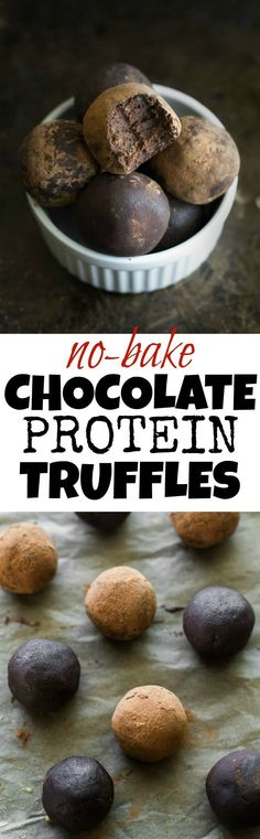 These melt-in-your-mouth No Bake Chocolate Fudge Protein Truffles taste SUPER decadent but are packed with good-for-you ingredients. They're a healthy way to satisfy those chocolate cravings and make a delicious pre or post-workout snack | runningwithspoo