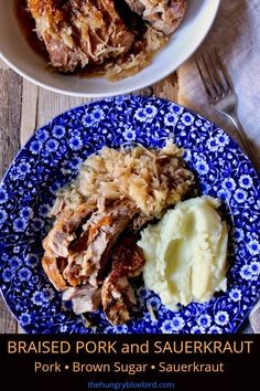 Pork ribs braised in a low, slow oven with sauerkraut and brown sugar. Serve with mashed potatoes for Sunday dinner on a cold winter night.