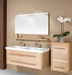 Premium-LX 130 Duo fürdőszobabútor natúr pacific dió - minimal fürdőszobabútor, modern fürdőszoba bútor