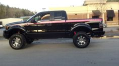 black and pink truck.yes please!