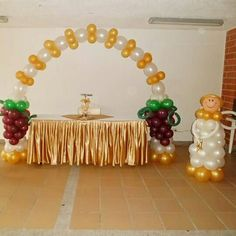 Balloon Decorations Without Helium, Red Carpet Party, Balloon Bouquet, First Communion, Gelato, Holi, Balloons, Bridesmaid Dresses, Baby Shower