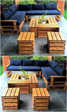 15 Wonderful DIY Pallet Furniture Outdoor That Look Awesome Pallet outdoor furniture ideas The post 15 Wonderful DIY Pallet Furniture Outdoor That Look Awesome appeared first on Lori& Decoration Lab. Pallet Garden Furniture, Outdoor Furniture Plans, Furniture Ideas, Garden Pallet, Furniture From Pallets, Antique Furniture, Furniture Stores, Outdoor Palette Furniture, Modern Furniture