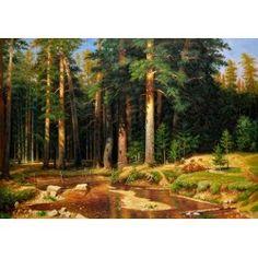 O Mast Tree Grove por Ivan Ivanovich Shishkin - galeria de arte da pintura a óleo