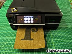 How to print on burlap with your inkjet printer