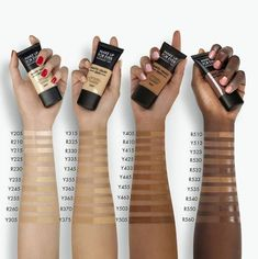 MAKE UP FOR EVER Matte Velvet Skin Full Coverage Foundation Gray Things gray color with a tinge of brown crossword Maquillage Black, Haut Routine, Makeup Order, Eye Makeup Steps, Dark Skin Makeup, Makeup Eyes, Pinterest Makeup, Makeup Tips For Beginners, Makeup Routine