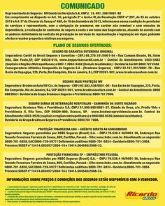 Cartaz Comunicado com Informações da Susep para o cliente do Grupo Máquina de Vendas (Ricardo Eletro - Insinuante - City Lar - Eletro Shopping - Salfer).