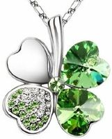 Crystal 4 leaf clover   $19.95   #brooches #jewelry #costumejewelry #rings #necklaces #pendants #gold #silver #diamonds #diamondrings #goldrings