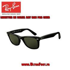Ray Ban RB2140 Lunettes de soleil Wayfarer cadre noir cristal vert Len  ultrafoot 0205cd812560
