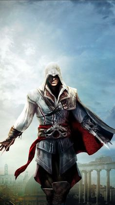 8 Top Assassin's Creed Ezio Wallpaper For Your Android or Iphone Wallpapers Assassins Creed 2, The Assassin, Assasin Creed Unity, Assassin Names, Assassian Creed, All Assassin's Creed, Monopoly Junior, Assasins Cred, Assassin's Creed Wallpaper