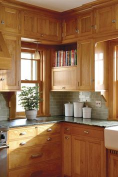 Lovely What Color Countertops with Oak Cabinets