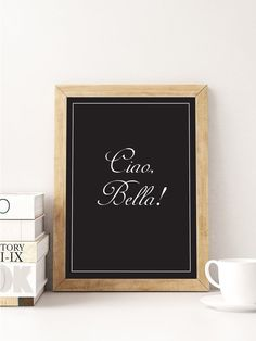 Ciao Bella affiches citations italiennes par LovelyPosters sur Etsy