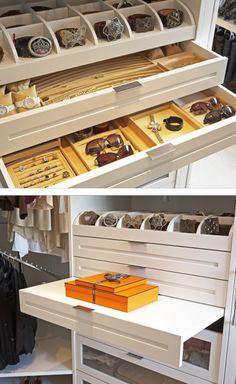 Jewelry And Belt Storage.