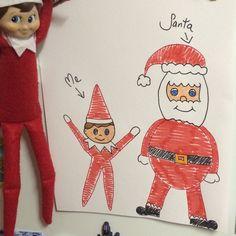 2015 - Day 3: Loki left us a picture on the fridge #OurElfOnTheShelf #ElfOnTheShelf #Christmas