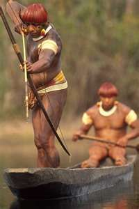 amazon natives fishing