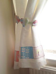 Nursery Curtain & Tie Back by Squirrelings