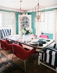 VINTAGE & CHIC: decoración vintage para tu casa · vintage home decor: Comedores para 6/8 con sillas combinadas · Dinings for 6/8 with mismatched sitting