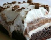 Brownie Refrigerator Cake   Chocolate Recipes on Pinterest