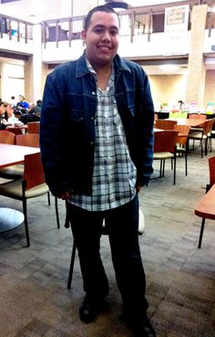 Julio from Eastfield College shows us his typical campus style. #dcccdstyle