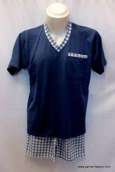 Pijamas Julca - Conjunto piajama de verano para caballero - Gamarrita Perú S/.25.00. Underwear Men, Agadir, Pjs, Nightwear, Lounge Wear, Unisex, Sewing, Mens Tops, How To Wear