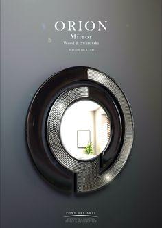 Orion Jewellery. Mirror - Wood And Swarovski _ Pont des Arts _ Designer Monzer Hammoud - Paris