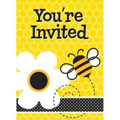 Bumble Bee Invitations, 8pk - Walmart.com