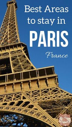 Paris Travel Guide - Where to stay in Paris? That is the question... There are so many things to do in Paris that it feels overwhelming to find the best area to stay. Here is a detailed Guide to help you with criteria to match to your personality | Paris France | Paris Tips | Paris Hotel