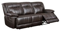 Furniture of America Fulton Brown Faux Leather Reclining Sofa