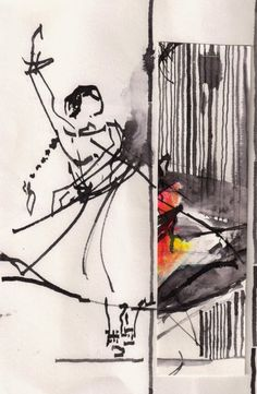 Classical Dance from Bangalore, India | Urban Sketchers