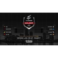 Turner and IMG'sELEAGUEtoday announced several new and expanded business partnerships ahead ofThe ELEAGUE Major: Boston with its final stage set tobegin Friday Jan. 26 including:  Twitch  Beginning withThe ELEAGUE Major: Boston social video serviceTwitchwill serve as ELEAGUE's official streaming service for its popular live event coverage.  #ELEAGUE #eSports #gaming http://ift.tt/2n97mUe