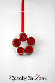 #Navidad #Árbol de Navidad con chapas  #corcholatas #reciclaje Botones