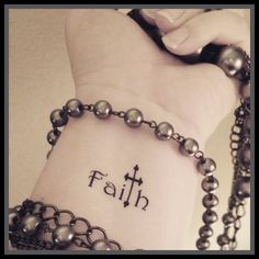 Faith cross temporary tattoo religious tattoo by SharonHArtDesigns