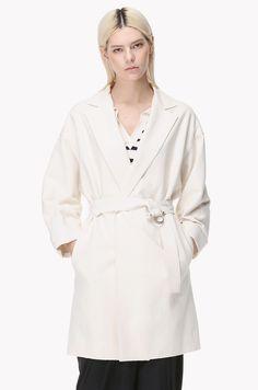 Orb pin belt oversized coat