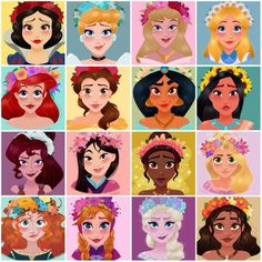 Flower crown princesses