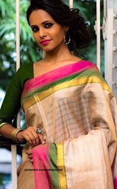 Handwoven Salem Silk from Shatika