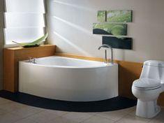 Bathroom, : Neptune Wind Corner Soaker Tub 59 With Circle Quarter Design For Small Bathroom Inspiration Design Corner Bathtub Shower, Corner Soaking Tub, Corner Tub, Tub Shower Combo, Shower Tub, Soaking Tubs, Small Corner, Room Corner, Sweet Corner