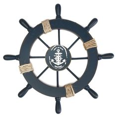 Description This wooden ship wheel with a fishing net, some shells and rope on it make it the perfect nautical wall hanging decor to accent your home. It is ideal for those who love sailing and nautical wall art. This steering wheel has eight spokes painted light blue and white, surrounding it and is easily mountable to a wall. Features - Color: As shown. - Material: Wooden. - Neckline: approx. 38cm / 14.96 inch. - Shoulder: apporox. 37.5cm / 14.76 inch. - Front Length: approx. 26cm / 10.24…