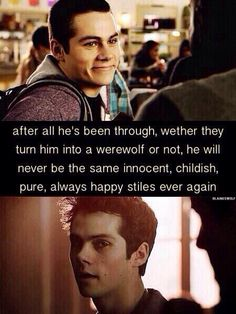 I have been wrestling with this - on one side I have loved seeing Dylan's amazing acting as Void Stiles BUT on the other side, I feel like he cannot ever go back to the innocent guy he once was. I know one thing- I am ready for good Stiles to be back!!! :)