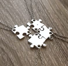 Unique and meaningful jewelry and fitness-related keychains, charms & more. Simple Reminders is the perfect place to find a personalized gift for yourself or someone you love. Friendship Necklaces For 4, Bff Necklaces, Silver Necklaces, Silver Earrings, Jewelry For Her, Jewelry Gifts, Jewelry Ideas, Jewelery, Silver Jewellery Indian