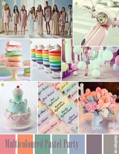 Pastel Party bridal shower decorations outfits balloons