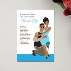 Baby Hugs Couple - Baby Shower Invitation #SoulfulMoon