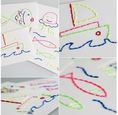 take K drawings and have middle school students stitch them onto cards