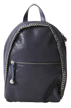 Falabella dark blue mini backpack - STELLA MC CARTNEY - Labelcrush