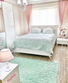 Mavi, Pembe, Yatak Odası, Yatak örtüsü