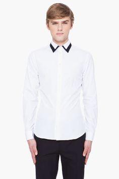 #Givenchy #two tone collar shirt