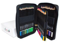 Premium 48 Colored Pencil Set With Case and Box