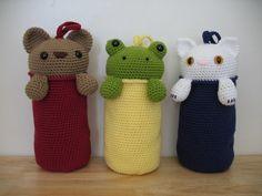 crochet plastic bag holders